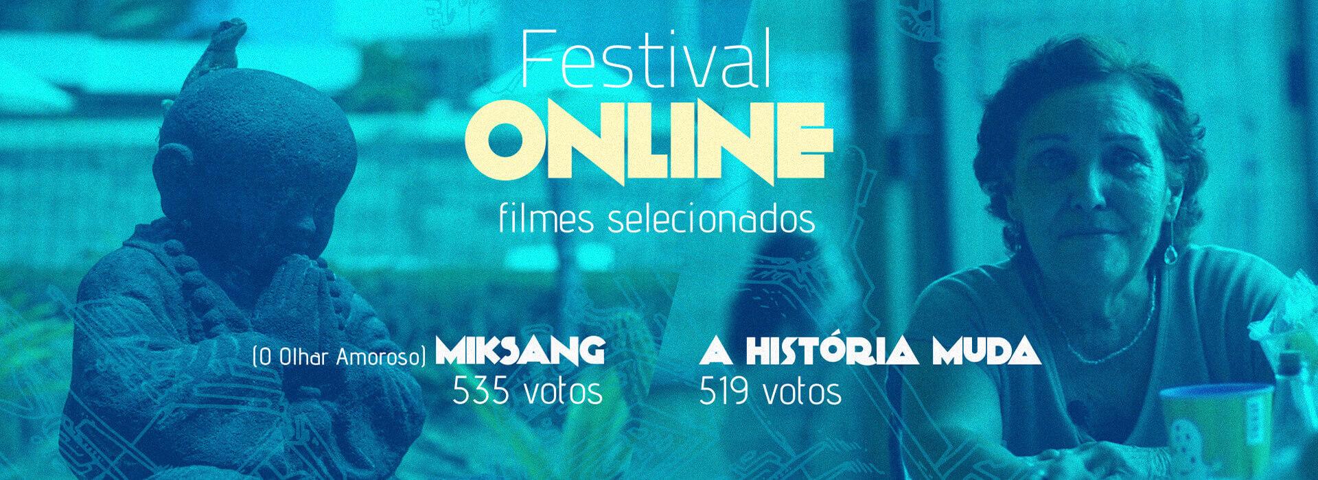 Filmes mais votados no festival online